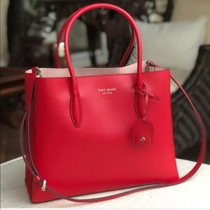 KATE SPADE Eva medium satchel in hot chili red
